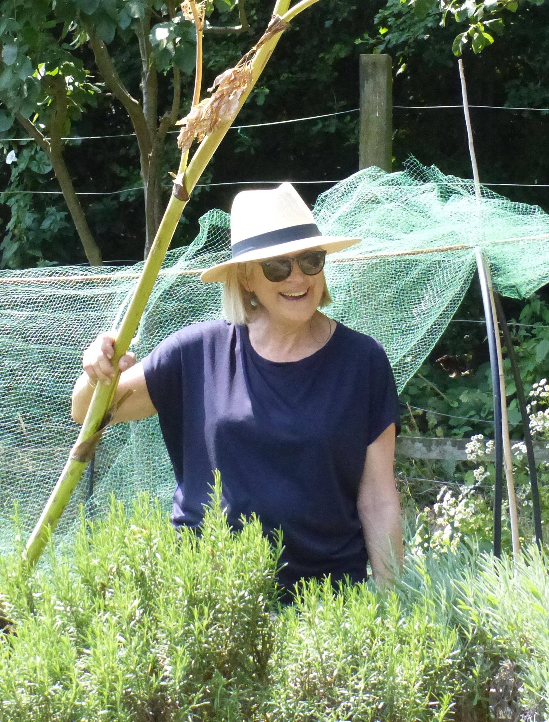 Sue Knutzen in the garden at Holly Lodge Centre
